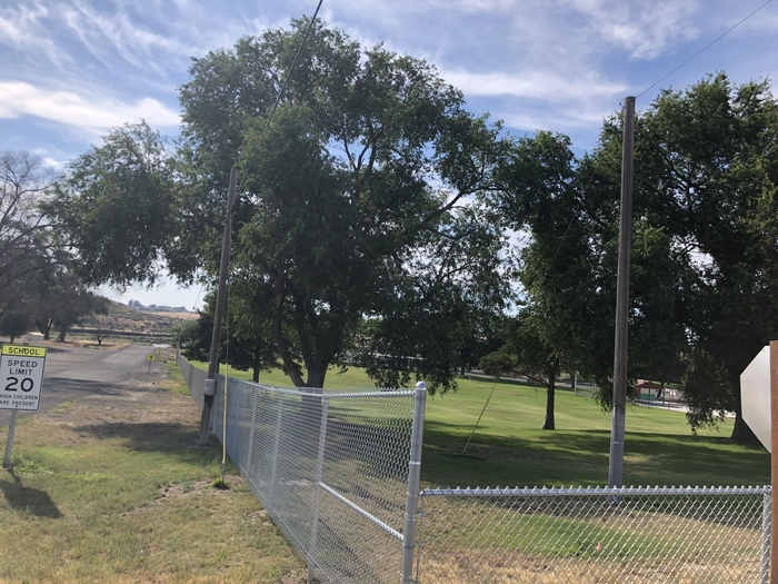 New fencing at Mesa Elementary