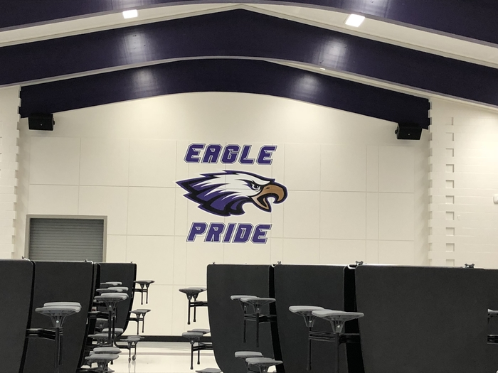 CHS Student Center remodel with new Eagle graphics
