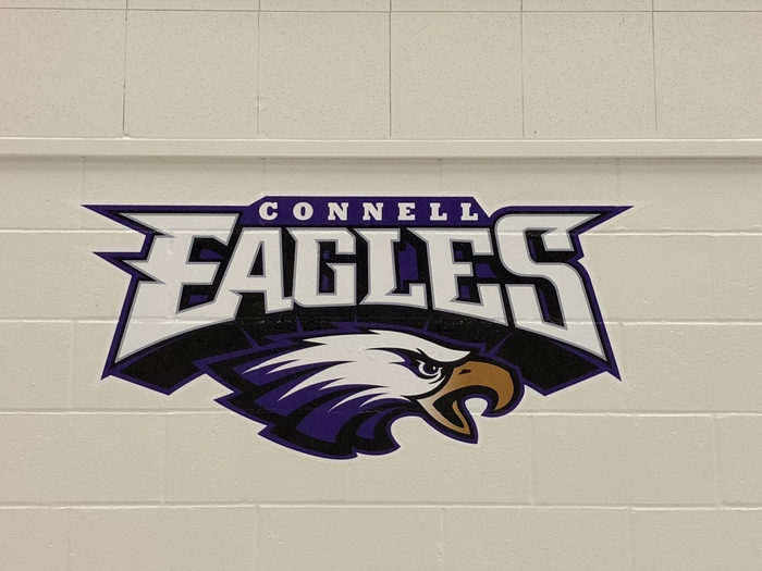 New Eagle graphics in CHS student center