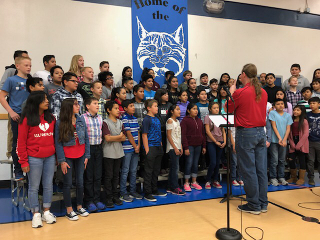 Bobcats performing for veterans