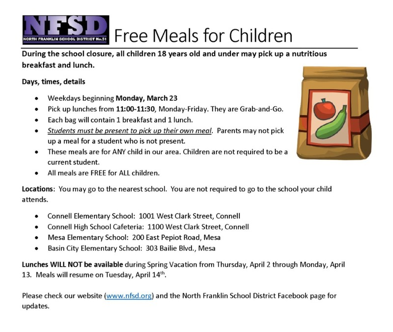 NFSD FREE MEAL SERVICE